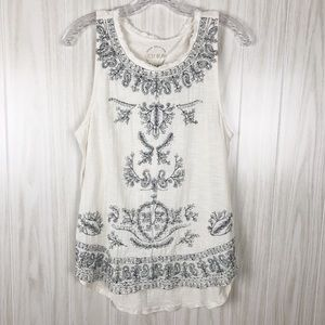 Lucky Brand | Embroidered Tank Top